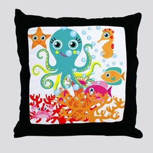 Welcome to the Ocean Throw Pillow