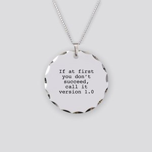 Call It Version 1.0 Necklace Circle Charm