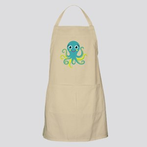 Blue and Yellow Octopus Apron