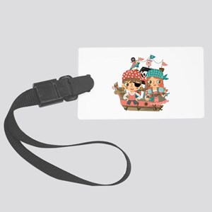 Girly Pirates Large Luggage Tag