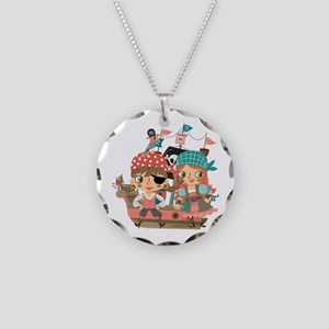 Girly Pirates Necklace Circle Charm