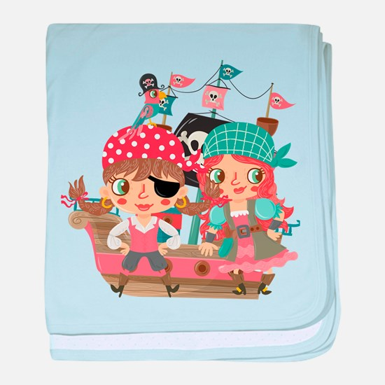Girly Pirates baby blanket
