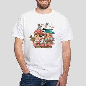Girly Pirates White T-Shirt
