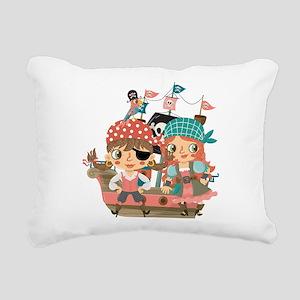 Girly Pirates Rectangular Canvas Pillow