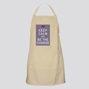 Keep Calm and Be the Change Apron