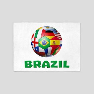 Brazil Soccer 5'x7'Area Rug