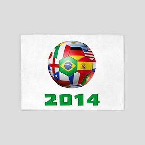 2014 Soccer Brazil 5'x7'Area Rug