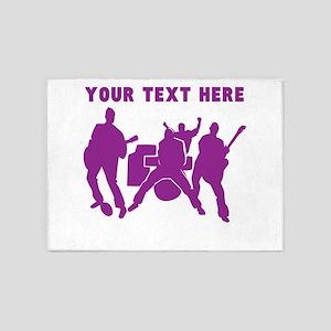 Custom Purple Rock Band 5'x7'Area Rug