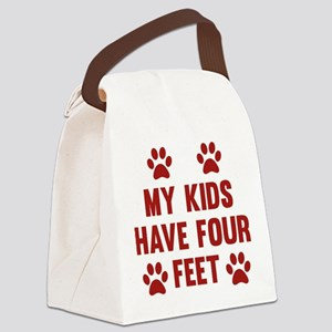 My Kids Have Four Feet Canvas Lunch Bag
