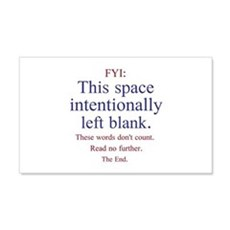 Intentionally Left Blank Wall Decal