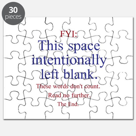 Intentionally Left Blank Puzzle