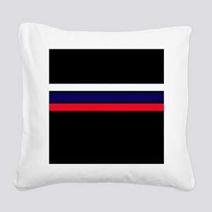 Team Colors 2...red,white and blue Square Canvas P