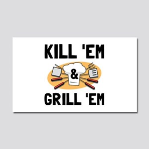 Kill Grill Car Magnet 20 x 12
