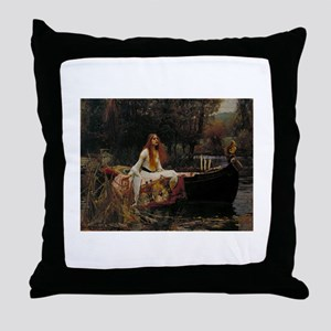 Lady Of Shalott Throw Pillow