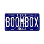 Boombox Junkie Aluminum License Plate