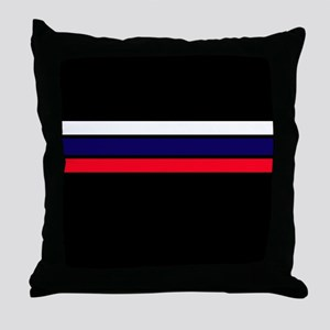 Team Colors 2...red,white and blue Throw Pillow