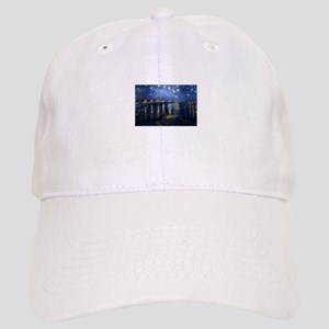 Starry Night Over Rhone Baseball Cap