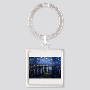 Starry Night Over Rhone Keychains