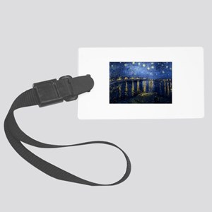 Starry Night Over Rhone Luggage Tag