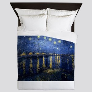 Starry Night Over Rhone Queen Duvet