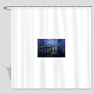 Starry Night Over Rhone Shower Curtain