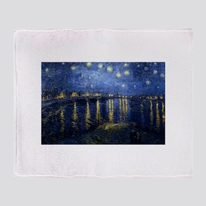 Starry Night Over Rhone Throw Blanket