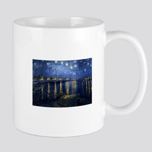 Starry Night Over Rhone Mugs