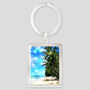 Beach Rarotonga Keychains