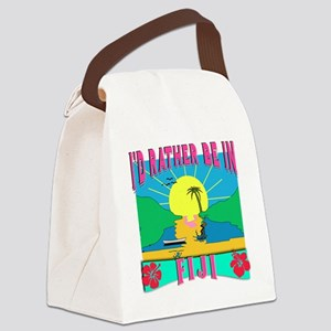 I'd Rather be in Fiji Canvas Lunch Bag