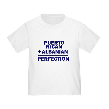 Albanian + Puerto Rican Toddler T-Shirt