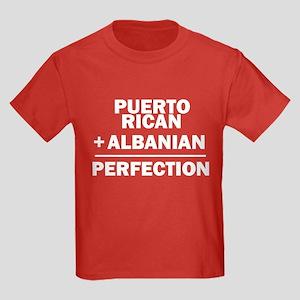 Albanian + Puerto Rican Kids Dark T-Shirt
