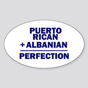 Albanian + Puerto Rican Oval Sticker