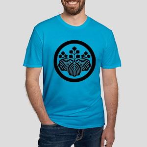 Paulownia with 5_3 blo Men's Fitted T-Shirt (dark)