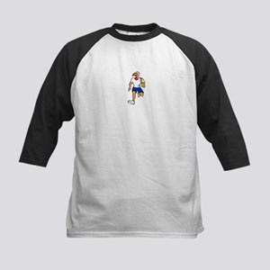 Turkey Run Runner Front Cartoon Baseball Jersey