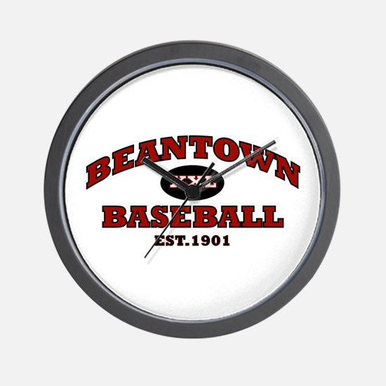Beantown Baseball Wall Clock