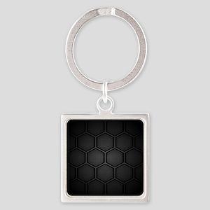 Carbon Fiber Hex Tiles Keychains