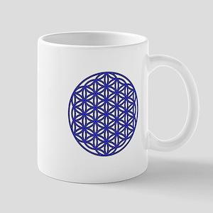 Flower of Life Single Blue Mug