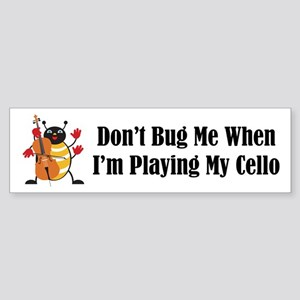 Cello Bug Bumper Sticker