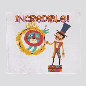 Incredible Circus Throw Blanket