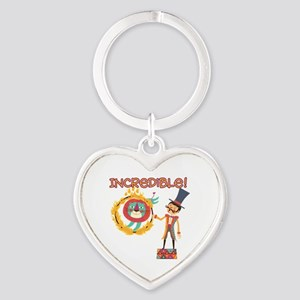Incredible Circus Heart Keychain