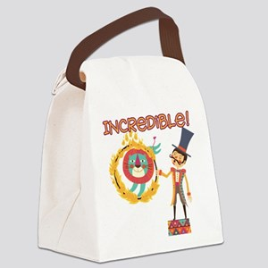 Incredible Circus Canvas Lunch Bag