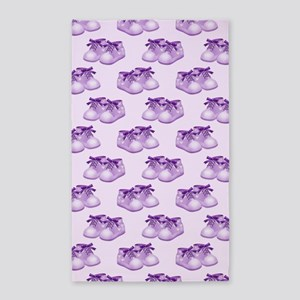 Purple Baby Shoes 3'x5' Area Rug