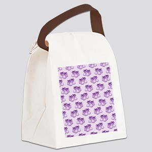 Purple Baby Shoes Canvas Lunch Bag