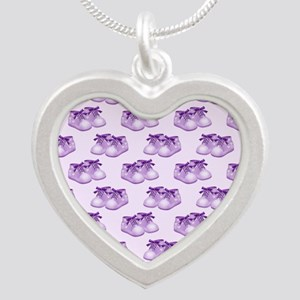 Purple Baby Shoes Necklaces