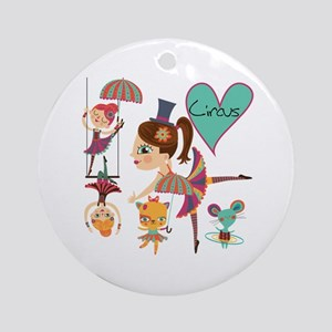 Love the Circus Ornament (Round)