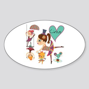Love the Circus Sticker (Oval)