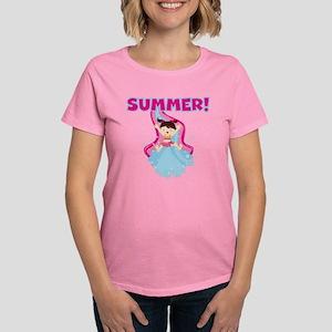 Brunette Girl Summer Women's Dark T-Shirt