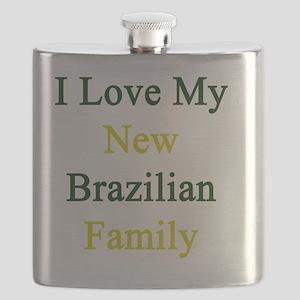 I Love My New Brazilian Family Flask