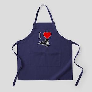 I Heart Loons I Love Loons Apron (dark)