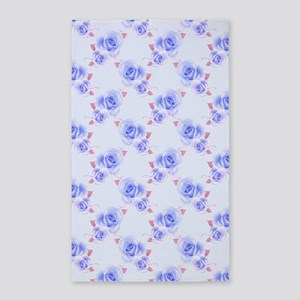 Blue Roses 3'x5' Area Rug